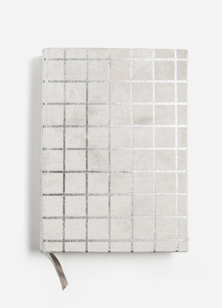 Silver Gridlock Velvet Journal