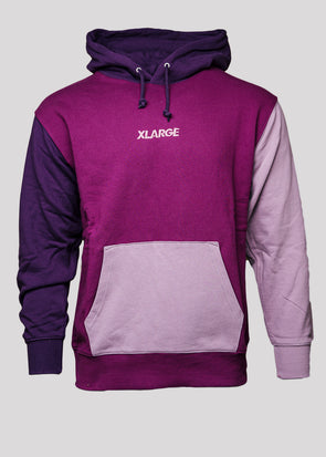 XLARGE COLOR BLOCK HOODIE | PURPLE