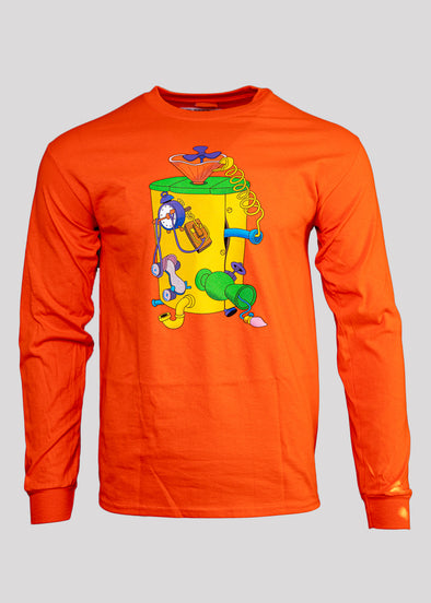 CARROTS TIME MACHINE LS TEE | ORANGE
