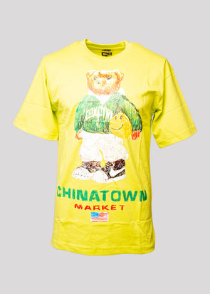 CHINATOWN MARKET SMILEY SKETCH BASKETBALL BEAR | YELLOW