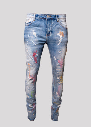 EMBELLISH MILO STANDARD DENIM | BLUE PASTEL
