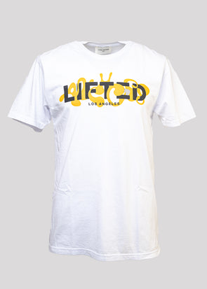 LIFTED ANCHORS LIQUID TEE | WHITE