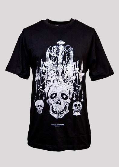 LIFTED ANCHORS CHANDELIER TEE | BLACK