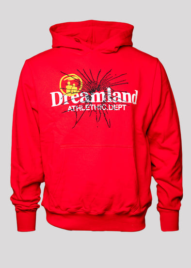 RENOWNED DREAMLAND ATHELTIC DEPARTMENT HOODY | RED