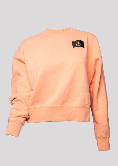 AIR JORDAN W J FLIGHT FLEECE CREW | APRICOT AGATE