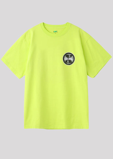 XGIRL CIRCLE LOGO S/S TEE | YELLOW