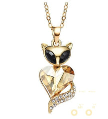 14K Gold Plated Cat Necklace - WikiWii
