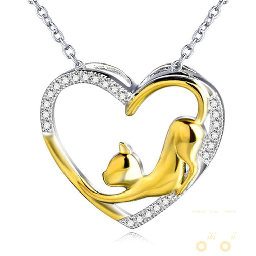 18K Gold Plated Cat Necklace - WikiWii