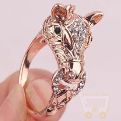14k Gold Filled Austrian Crystal Charming Horse Head - WikiWii