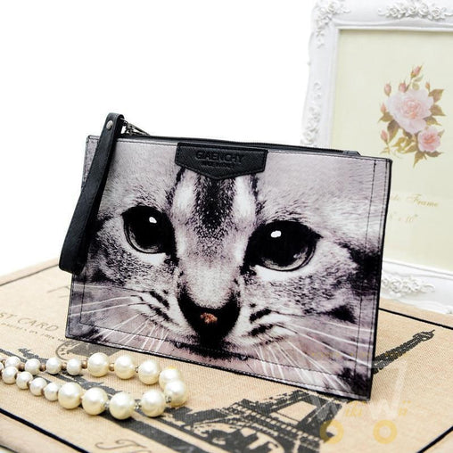 3D animal cat women's handbag inclined shoulder bag - WikiWii