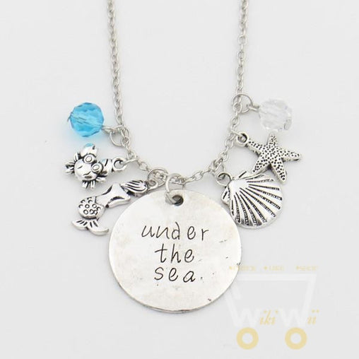 """Under the sea""Mermaid Letter Necklace - WikiWii"