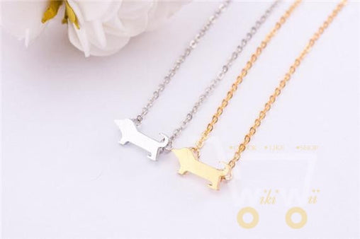 18 kg Gold plated / Silver plated Cute Dog Layer Metalwork Stainless Steel Chain Necklace - WikiWii