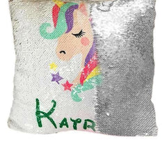 Customize Names UNICORN SEQUIN PILLOW - WikiWii