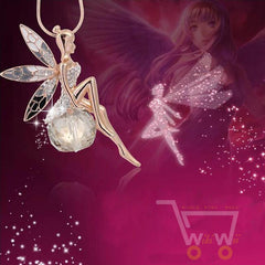 Angel Wings Butterfly Wings Necklace - WikiWii