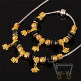 18K Gold Plated Bohemia Elephant Necklace Bracelet set