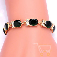 18 kg Yellow Gold Owl Bracelets / 4 Colors Crystal - WikiWii