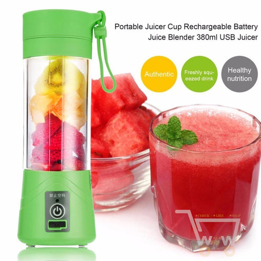 380ml USB Rechargeable Juice Bottle Cup and Blender - WikiWii