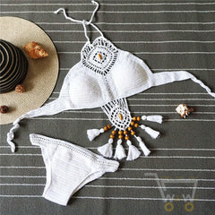 Crochet Bikini path suit set - WikiWii
