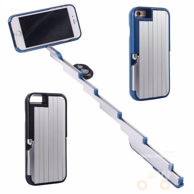 Extendable Remote Control Selfie Stick Bluetooth Phone Case - WikiWii