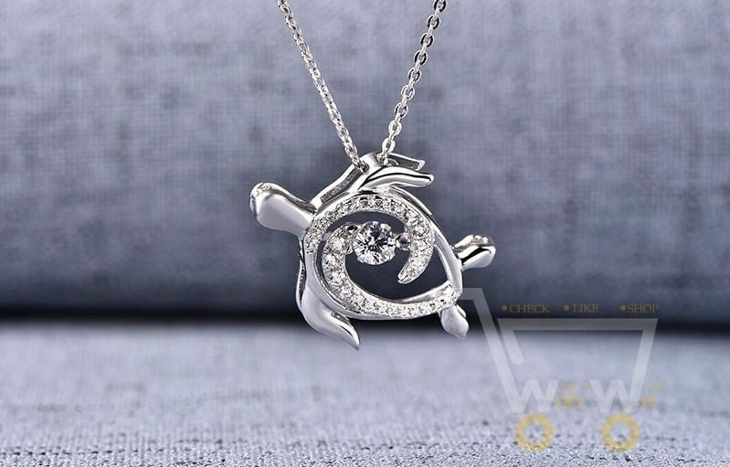 925 sterling silver sea turtle necklace 925 sterling silver sea turtle necklace wikiwii mozeypictures Images