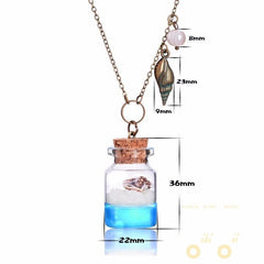 Luminous Conch Crystal Glass Necklace - WikiWii
