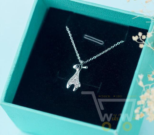 925 Sterling-Silver-Jewelry Crystals  Giraffe Necklace - WikiWii