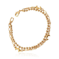 18K Real Gold Plated Lovely Small Dolphin Charm Bracelet - WikiWii