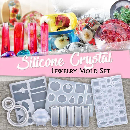 DIY Crystal Glue Jewelry Mold 83 -229 Pcs Set - WikiWii