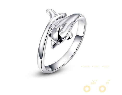 18 Kg Rose Gold /Platinum Plated Rings Cute Dolphin Ring - WikiWii