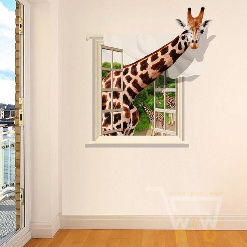 3D Giraffe wall sticker - WikiWii