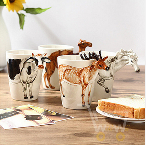 3D Animal Shape Ceramic Mug - WikiWii