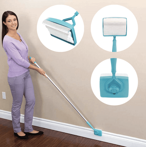 Adjustable Conforming Baseboard Cleaner - WikiWii