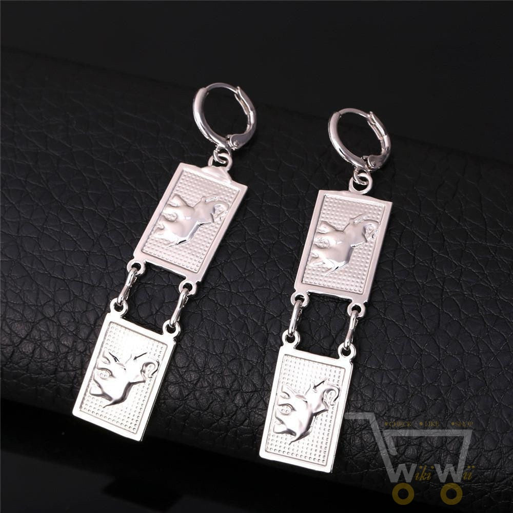 dangle elegant colourful elephant the funky barcode earrings