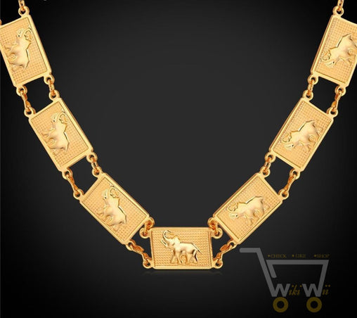 18k Gold Plated /Platinum Plated Thailand Lucky Elephant Necklace - WikiWii