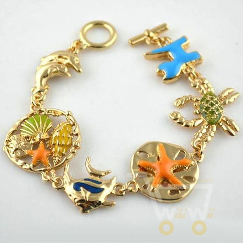Beach Style Sea Fish Charms Bracelet - WikiWii