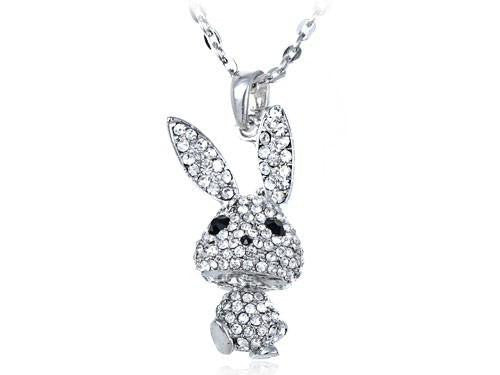 Big Ear Floppy Bunny Rabbit Necklace - WikiWii