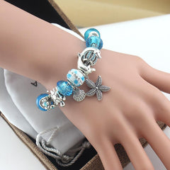 Blue Beads bracelets Starfish / Sea Turtle / Dolphin - WikiWii