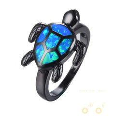 Blue Opal Turtle ring - WikiWii