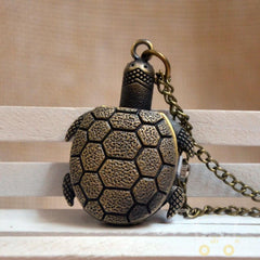 Bronze Turtle  Watch Necklace - WikiWii