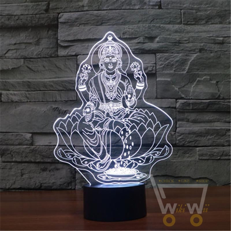 ... Buddha 7 Color Changing Table Lamp   WikiWii ...