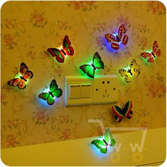 Butterfly LED Night Lights Wall Lamp ( 5 pieces ) - WikiWii