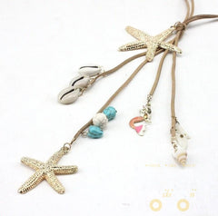 Charm Starfish Necklace - WikiWii