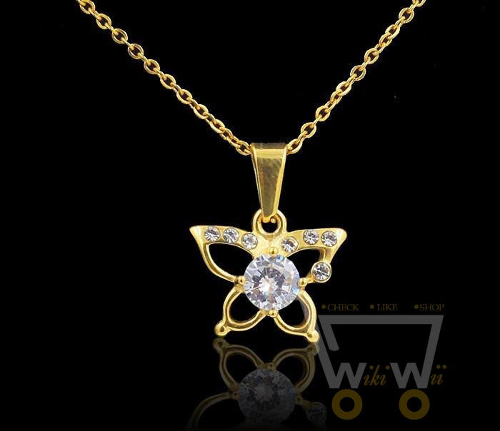 charming Butterfly Necklace - WikiWii