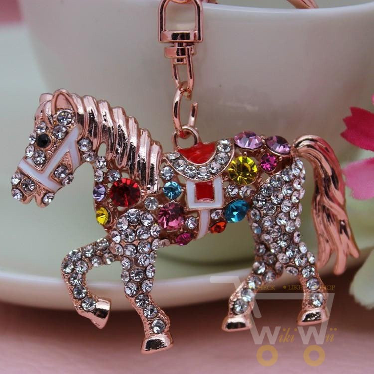 Colorful Crystal Horse Keychain - WikiWii