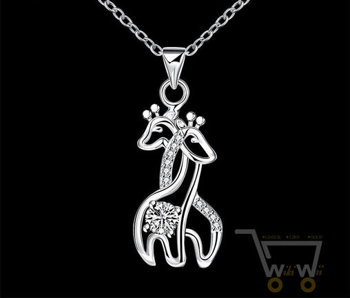 Couple Giraffe Necklace - WikiWii