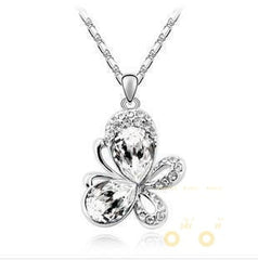 Crystal Butterfly Necklace - WikiWii
