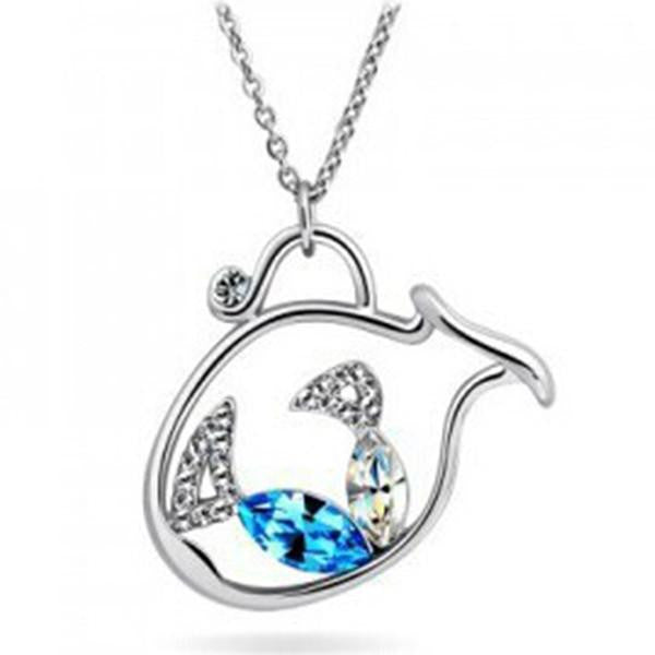 Crystal fish pendants silver plated nickel crystal fish pendants silver plated nickel wikiwii mozeypictures Images