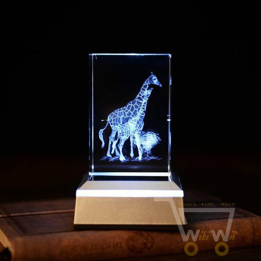 Crystal Giraffe Laser Carving - WikiWii