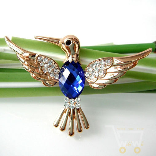 Crystal Hummingbird Brooch - WikiWii