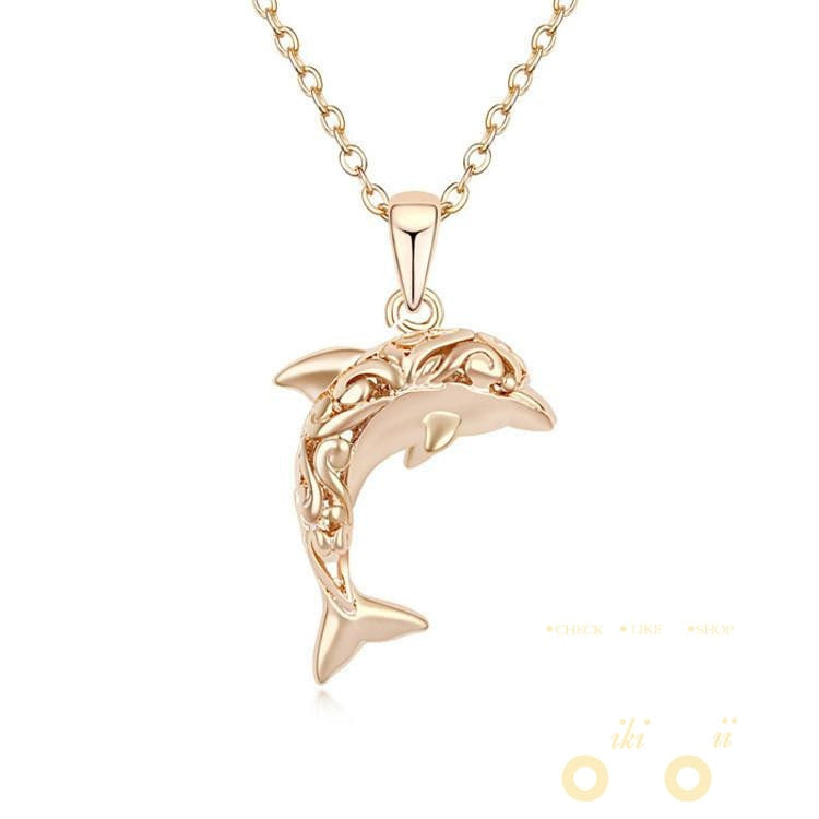 jewelry with chain sterling dp dolphin silver necklace box amazon pendant com